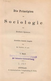 Die Principien der Sociologie. Bd. 1