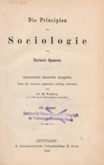 Die Principien der Sociologie. Bd. 3