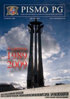 Pismo PG : pismo pracowników i studentów Politechniki Gdańskiej, 2009, R. 17
