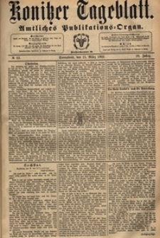 Konitzer Tageblatt.Amtliches Publikations=Organ, nr.62