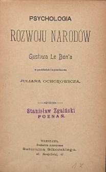 Psychologia rozwoju narodów Gustawa Le Bon'a