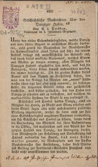 Geschichtliche Nachrichten über den Danziger Hafen