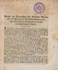 Bericht der Commission des Gewerbe-Vereins über die Anträge des Altschottländischen Fleischer-Gewerks in Bezug auf die hiesige Fleischpökelungs-Anstalt