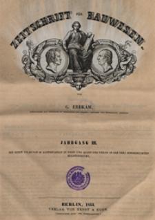 Zeitschrift für Bauwesen, Jg. 3, H. 1-12 (1853)
