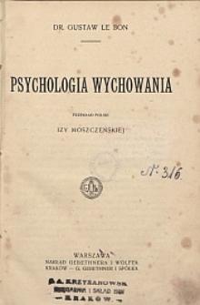 Psychologia wychowania