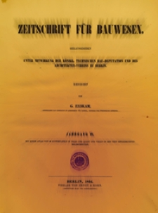 Zeitschrift für Bauwesen, Jg. 4, H. 1-12 (1854)