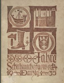 Festschrift zur 550-Jahrfeier der Schuhmacherinnung zu Danzig : am 5. Januar 1935