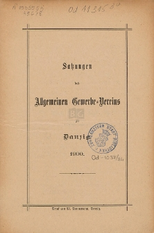 Satzungen des Allgemeinen Gewerbe-Vereins zu Danzig : 1900