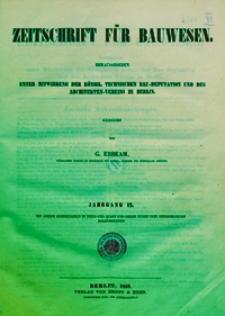 Zeitschrift für Bauwesen, Jg. 9, H. 1-12 (1859)