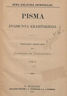 Pisma Zygmunta Krasińskiego. T. 2