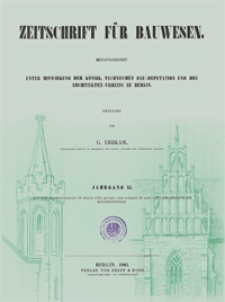 Zeitschrift für Bauwesen, Jg. 11, H. 1-12 (1861)