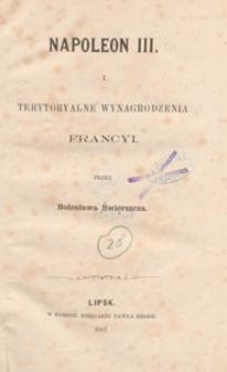 Napoleon III. i terytoryalne wynagrodzenia Francyi