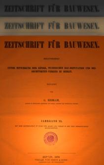 Zeitschrift für Bauwesen, Jg. 20, H. 1-12 (1870)