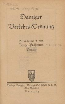 Danziger Verkehrs-Ordnung