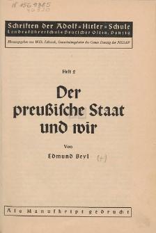 Der preußische Staat und wir
