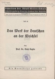 Das Werk der Deutschen an der Weichsel
