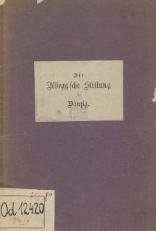 Die Abegg'sche Stiftung zu Danzig