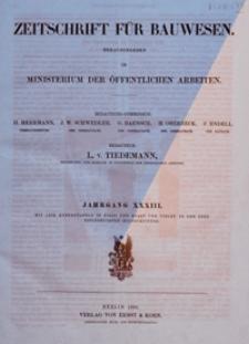 Atlas zur Zeitschrift für Bauwesen, Jg. 38, H. 1-12 (1888)