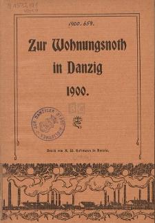 Zur Wohnungsnoth in Danzig 1900