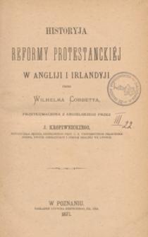 Historyja reformy protestanckiéj w Angliji i Irlandyji