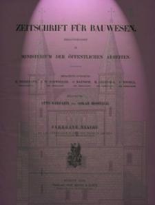 Zeitschrift für Bauwesen, Jg. 38, H. 1-12 (1888)