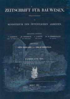 Zeitschrift für Bauwesen, Jg. 41, H. 1-12 (1891)