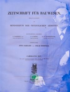Zeitschrift für Bauwesen, Jg. 45, H. 1-12 (1895)