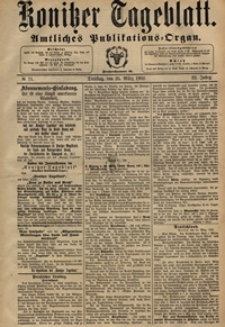 Konitzer Tageblatt.Amtliches Publikations=Organ, nr.70