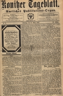 Konitzer Tageblatt.Amtliches Publikations=Organ, nr.74