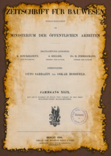 Zeitschrift für Bauwesen, Jg. 49, H. 1-12 (1899)