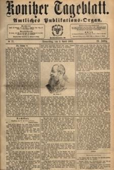 Konitzer Tageblatt.Amtliches Publikations=Organ, nr.77