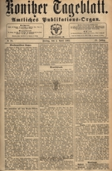 Konitzer Tageblatt.Amtliches Publikations=Organ, nr.78