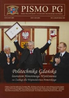 Pismo PG : pismo pracowników i studentów Politechniki Gdańskiej, 2005, R. 13, nr 1 (Styczeń)