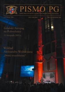 Pismo PG : pismo pracowników i studentów Politechniki Gdańskiej, 2005, R. 13, nr 8 (Listopad)