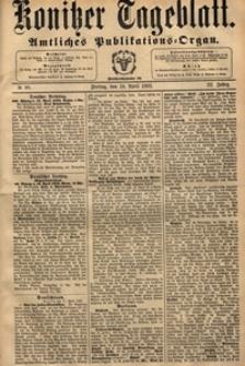 Konitzer Tageblatt.Amtliches Publikations=Organ, nr.89