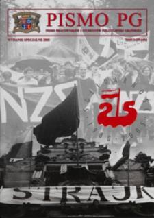 """Pismo PG : pismo pracowników i studentów Politechniki Gdańskiej, 2005, R. 13, 25-lecie NSZZ """"Solidarność"""""""