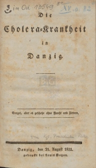 Die Cholera-Krankheit in Danzig