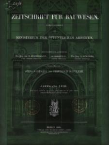 Zeitschrift für Bauwesen, Jg. 58, H.1-12 (1908)