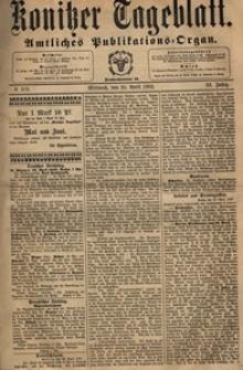 Konitzer Tageblatt.Amtliches Publikations=Organ, nr.99