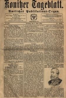 Konitzer Tageblatt.Amtliches Publikations=Organ, nr.103