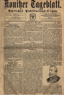 Konitzer Tageblatt.Amtliches Publikations=Organ, nr.104