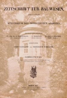 Zeitschrift für Bauwesen, Jg. 61, H. 1-12 (1911)