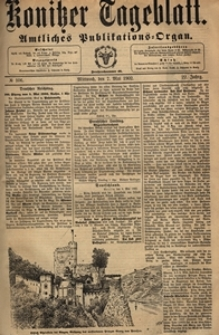 Konitzer Tageblatt.Amtliches Publikations=Organ, nr.106