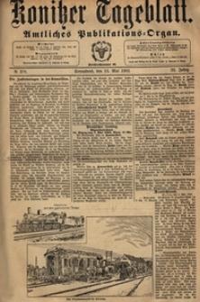 Konitzer Tageblatt.Amtliches Publikations=Organ, nr.107