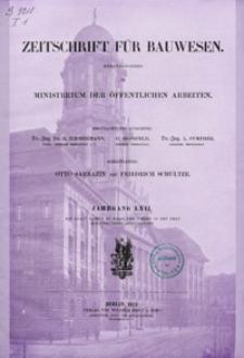 Zeitschrift für Bauwesen, Jg. 62, H. 1-12 (1912)