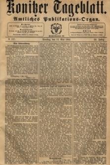 Konitzer Tageblatt.Amtliches Publikations=Organ, nr.109