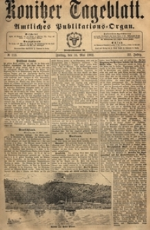 Konitzer Tageblatt.Amtliches Publikations=Organ, nr.112