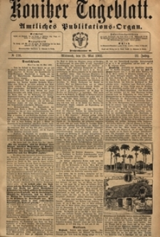 Konitzer Tageblatt.Amtliches Publikations=Organ, nr.115