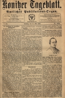 Konitzer Tageblatt.Amtliches Publikations=Organ, nr.118