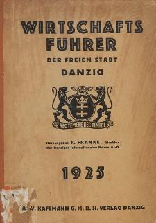 Wirtschaftsführer der Freien Stadt Danzig 1925